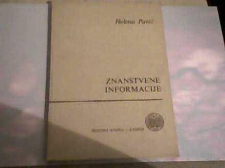Znanstvene informacije-Helena Pavić
