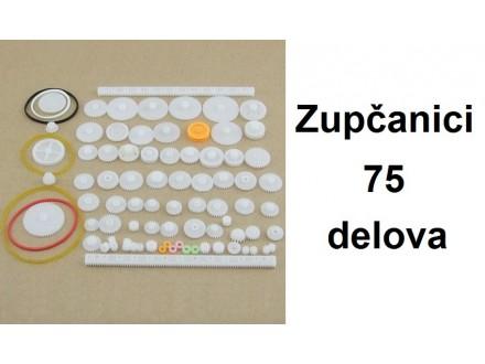 Zupcanici za robota - Komplet zupcanika - 75 delova