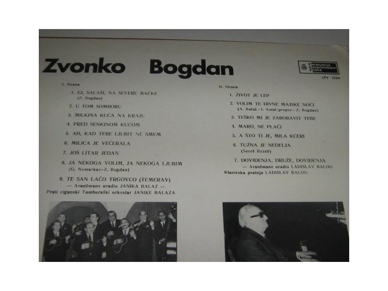 Zvonko Bogdan - Pesmo stara, ljubavi moja