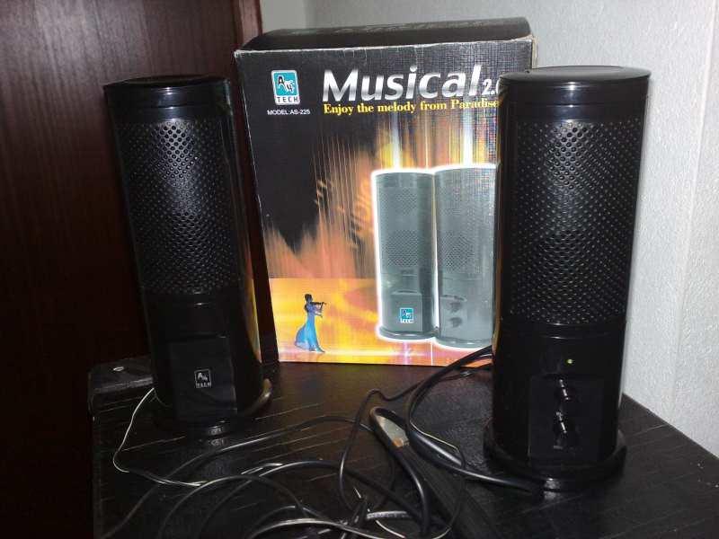 Zvucnici 2.0 A4 tech As-225 Black.Nekorišćeno!Dvosistem