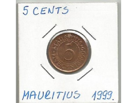 a11 Mauritius 5 cents 1999. u kartonu