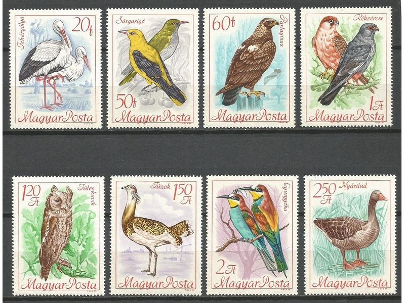 bi MADJARSKA 1968. Ptice,cista serija