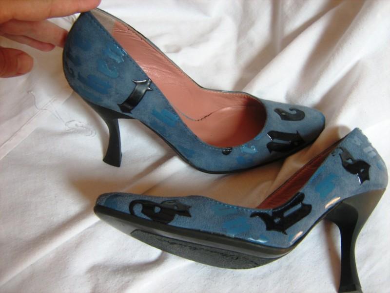 cipele kozne-Grey Mer-35-nove -unikat