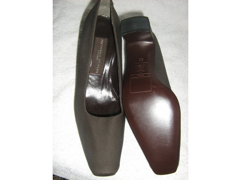 cipele kozne -POLLINI-36-nove -tamno braon
