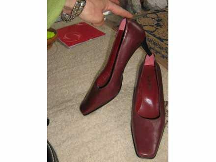 cipele kozne -bordo-NOVE - 38-salonke