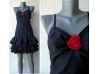 crna svečana mini haljina sa karnerima br S