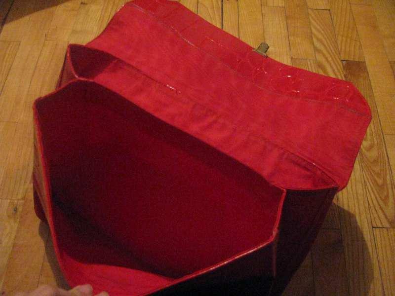 crvena velika torba, kvalitena, novo