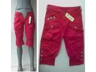 crvene pantalone tri četvrti za 10-12 g