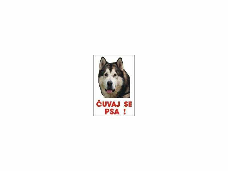 čuvaj se psa-  aljaski malamut table i nalepnice