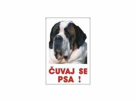 čuvaj se psa bernardinac-  table i nalepnice