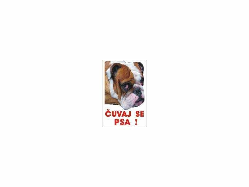 čuvaj se psa buldog table i nalepnice