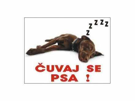 čuvaj se psa koji spava table i nalepnice