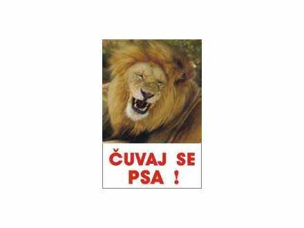 čuvaj se psa lav tabla