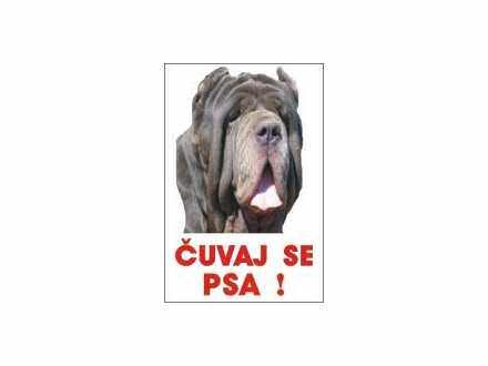 čuvaj se psa tabla mastif