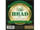 etiketa hrad pivo