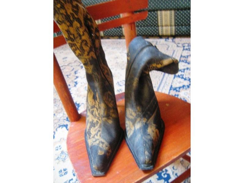 fenomenalne cizme 36-platno/koza