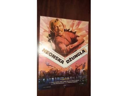 filmski plakat broj 157: NEONSKA DŽUNGLA (ČAK NORIS)