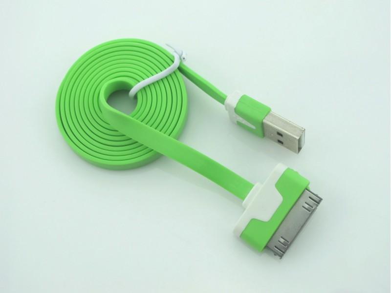 iPhone 4 4S... 1m pljosnati USB DATA kabl RAZNE BOJE