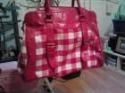 karirana crvena torba