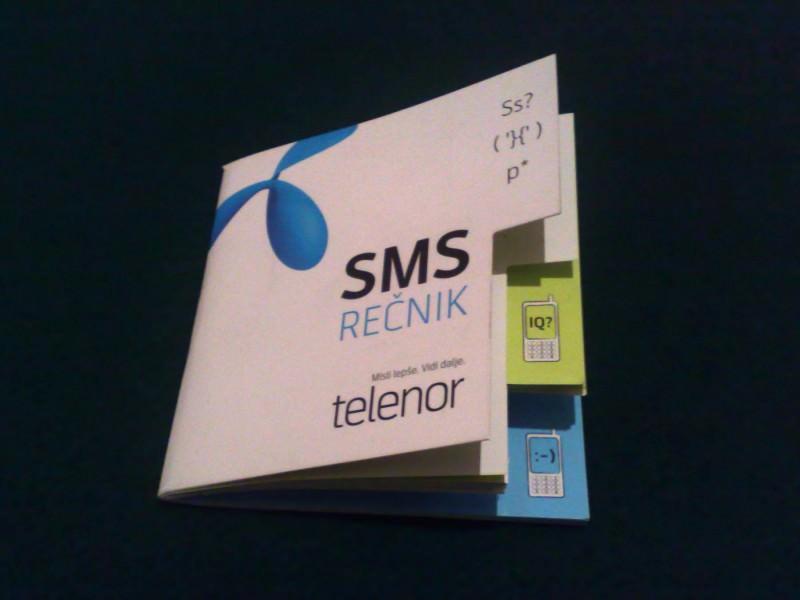 knjižica, SMS rečnik, Telenor