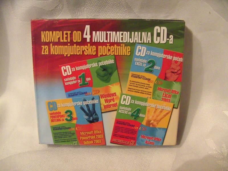 komplet od 4 multimedijalna cd-a za kompijuterske