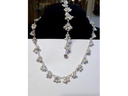 kompleti,narukvica+ogrlica,posrebren 925