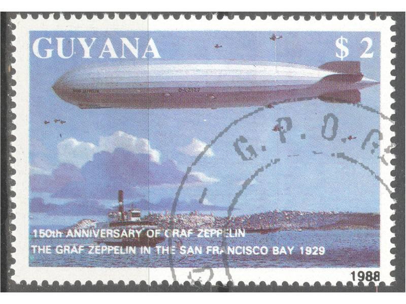 kt089d, 26.jan.1989. Guyana  Mi2486(-o-)  1/4