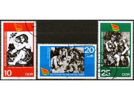 kt168c,  20. apr.1982. DeutscheDR Mi2699-701 -o- 3/3FDS