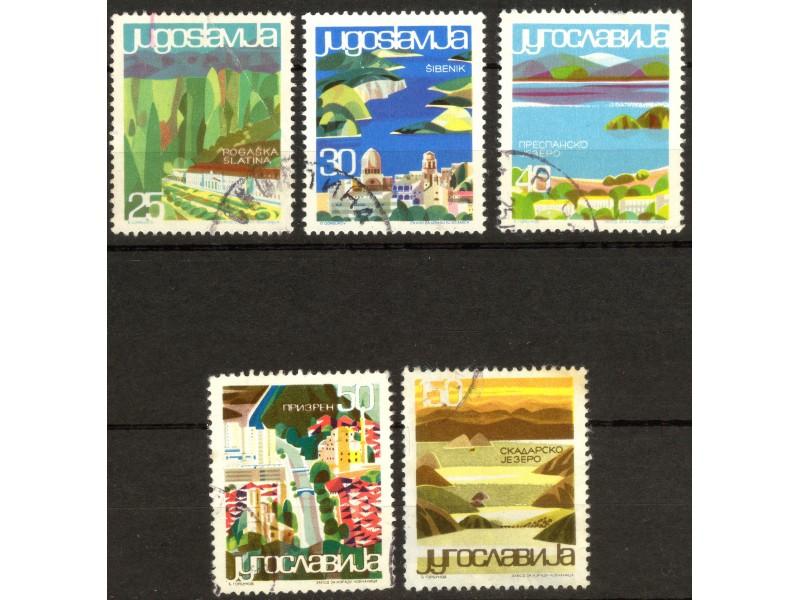kt820,  6. jul.1965. Jugoslavija Mi1125-30(-o-)5/6