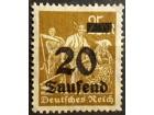 kt969l, 24.08.1923 DReich Mi281(**)1/20