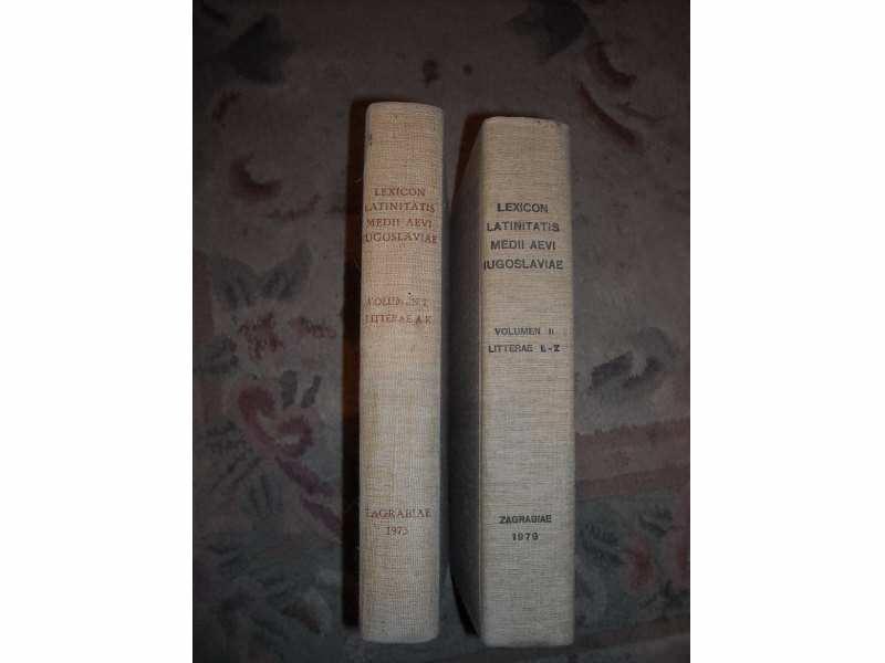lexicon latinitatis medii aevi iugoslaviae I i II