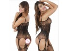mesh exposed breasts bodystocking