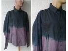 muška crna košulja sa vezom L DRESSING