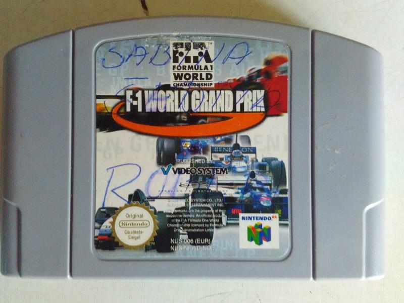 nintendo 64 igrica f-1 world grand prix ispr sa slika