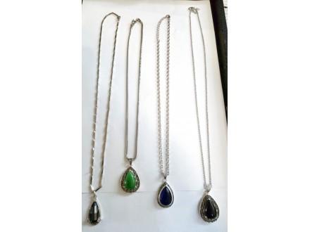ogrlice + privezak,posrebrene 925