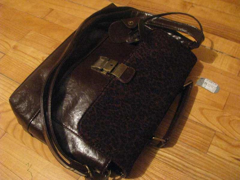 original SIX  braon torba sa KATANCEM, NOVO sa etiketom
