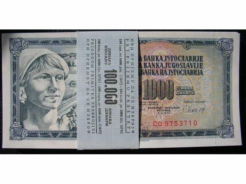 paket 1000 dinara SFRJ