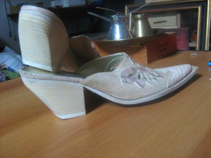 papuce-ZMIJSKA koza + velur-37   nove