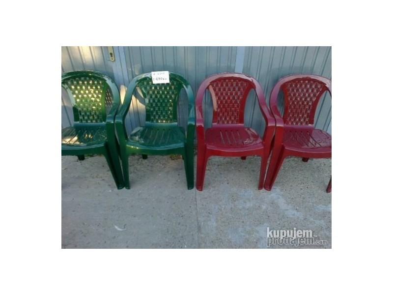 Plasticne Stolice 6 Kom Sto Ovalni Kupindocom 20322045