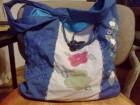 plava platnena torba sa vezom