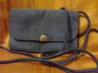 plava torbica od izvrnute koze