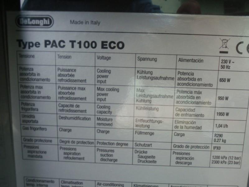 pokretna klima DELONGHI PAC T100 ECO