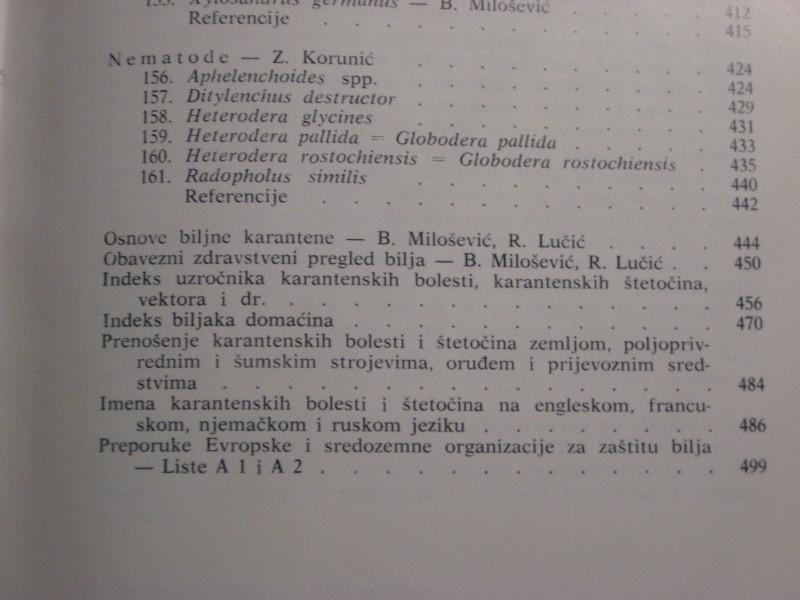 pp - PRIRUCNIK o karantenskim biljnim bol. i stet. SFRJ