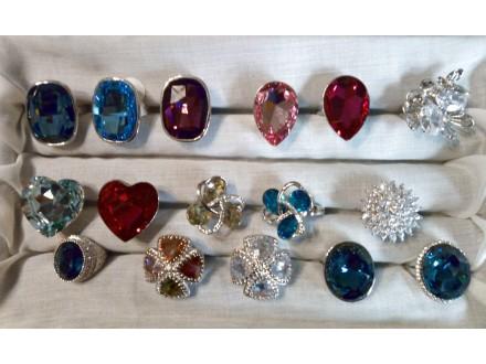 prstenje Swarovski veliko kamenje