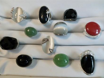 prstenje sa poludragim kamenom i swarovski kristalima
