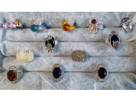 prstenje  sa swarovski kristalima