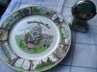 ukrasni tanjir i stari  kalendar - motiv Amerika