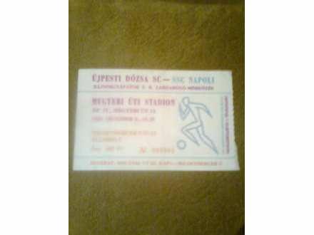 ulaznica Ujpešti Doža SC - SSC Napoli