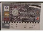 ulaznica za derbi Partizan - Crvena Zvezda 2008