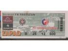 ulaznica za derbi Partizan - Crvena Zvezda